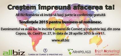 Conferinta Tendintele Businessului Romanesc 2015 Iasi