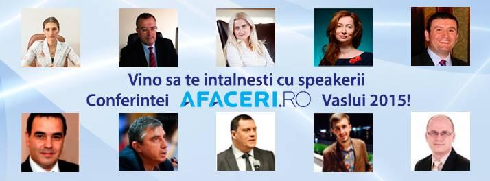 Speakeri Conferinta Afaceri.ro Vaslui
